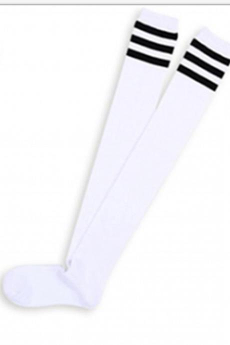 Black Socks With Stripes